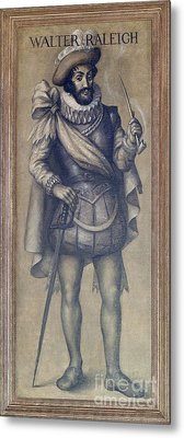 Walter Raleigh, English Explorer Metal Print by Photo Researchers