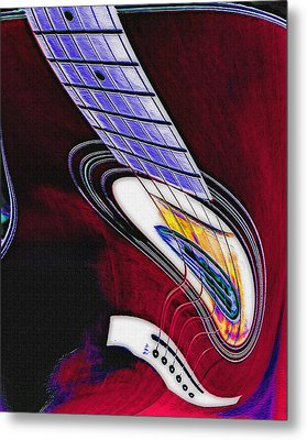 Warped Music Metal Print by Steve Ohlsen