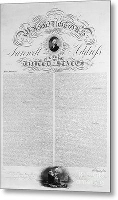 Washington: Farewell, 1796 Metal Print by Granger