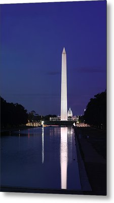 Washington Monument At Sunset Metal Print by Metro DC Photography