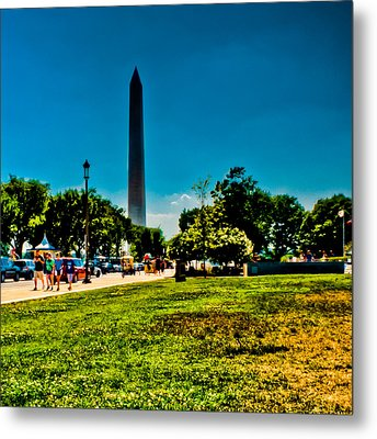 Washington Monument Metal Print by David Hahn