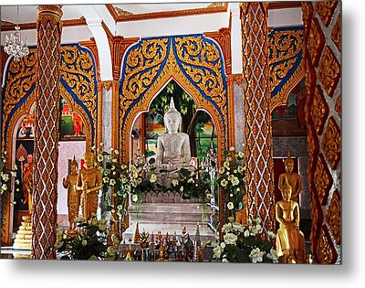 Wat Chalong 4 Metal Print by Metro DC Photography