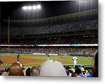 Watching The Game Metal Print by Malania Hammer