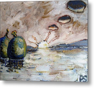 Water Balloons At Sunset Metal Print by Charlie Spear