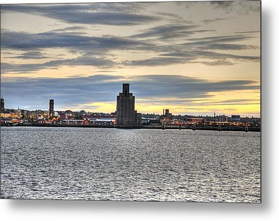 Water Front Liverpool Metal Print by Barry R Jones Jr