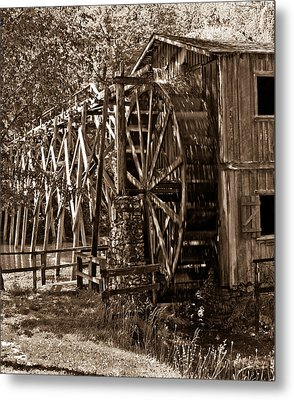 Water Mill In Action Metal Print by Douglas Barnett