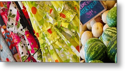 Watermelon Season Metal Print by Rebecca Cozart