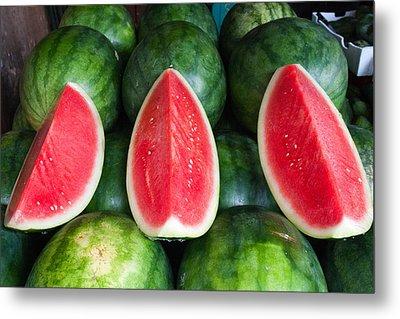 Watermelons Metal Print by Andrew W.B. Leonard
