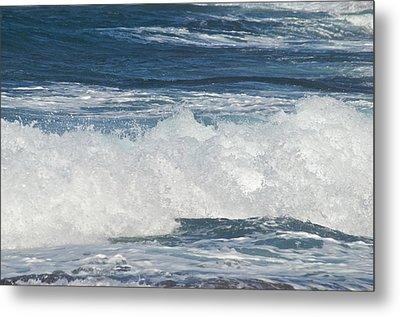 Waves Breaking 7964 Metal Print by Michael Peychich