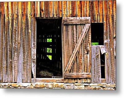 Weathered Barn Door Metal Print by Marty Koch