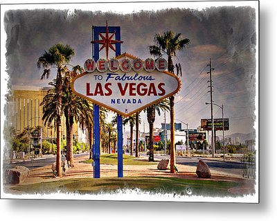 Welcome To Las Vegas Sign Series Impressions Metal Print by Ricky Barnard