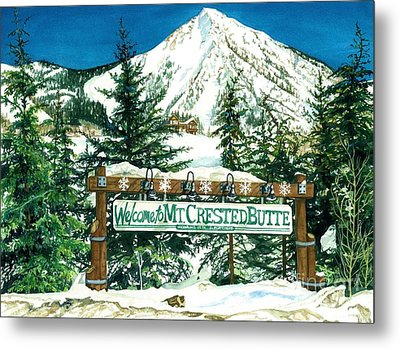 Welcome To The Mountain Metal Print by Barbara Jewell