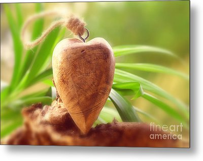 Wellnes Heart Metal Print by Tanja Riedel