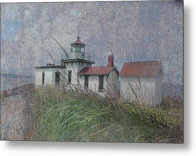 West Point Lighthouse - Seattle Metal Print by Jeff Burgess