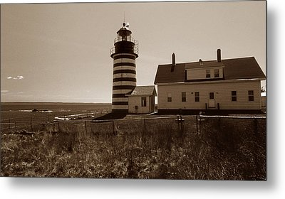 West Quoddy Lighthouse Metal Print by Skip Willits