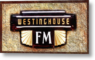 Westinghouse Fm Logo Metal Print by Andee Design