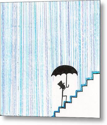 Wet Feet Freak Out Metal Print by Candace Fowler