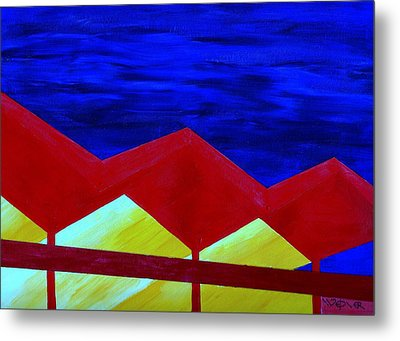 Wexler Folded Roof Six Metal Print by Randall Weidner