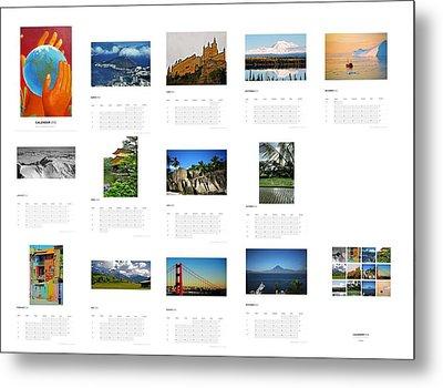 What A Wonderful World Calendar 2012 Metal Print by Juergen Weiss