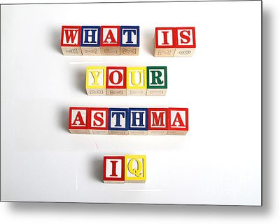 What Is Your Asthma Iq Metal Print by Photo Researchers