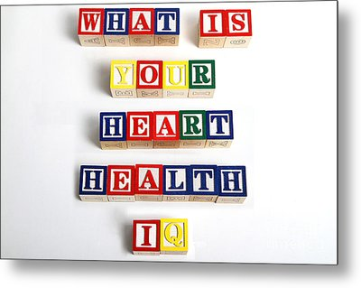 What Is Your Heart Health Iq Metal Print by Photo Researchers, Inc.