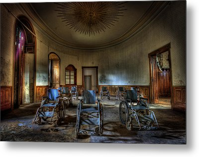 Wheelchairs Are Us Metal Print by Nathan Wright