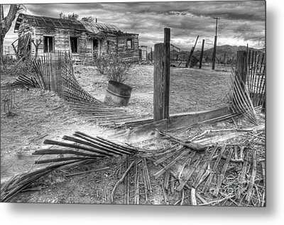 Where Does The Story End Monochrome Metal Print by Bob Christopher