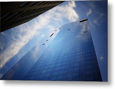 Where I End And You Begin - Skyscraper - New York City  Metal Print by Vivienne Gucwa