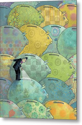 Where's The Money? Metal Print by Dennis Wunsch