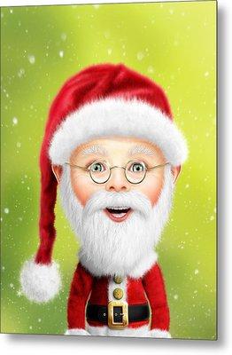 Whimsical Santa Claus Metal Print by Bill Fleming