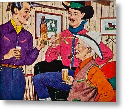 Whiskey Advertisement Metal Print by Susan Leggett
