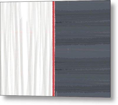 White And Grey Metal Print by Naxart Studio