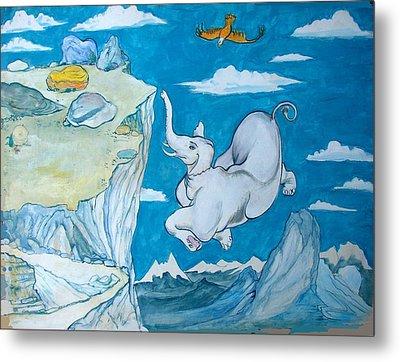 White Elephant Metal Print by Scott Cumming