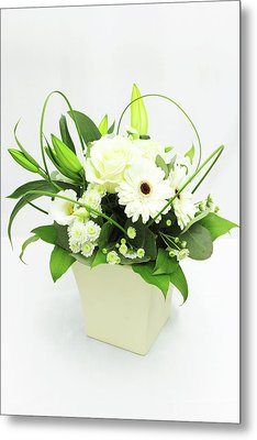 White Flower Bouquet Metal Print by © S.Musgrove