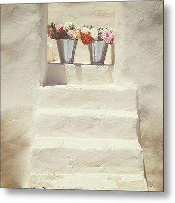 White Steps Metal Print by Joana Kruse