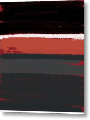 White Stripe Metal Print by Naxart Studio