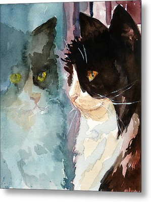 Who Are You Metal Print by P Maure Bausch