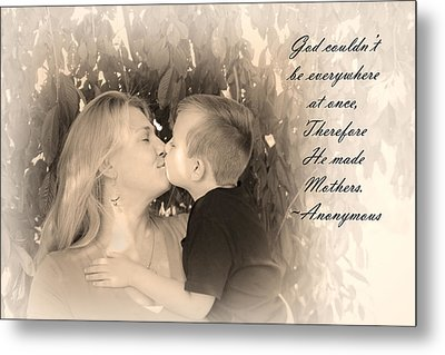 Why He Made Mothers Metal Print by Kelly Hazel