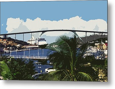 Willemstad - Curacao Metal Print by Juergen Weiss