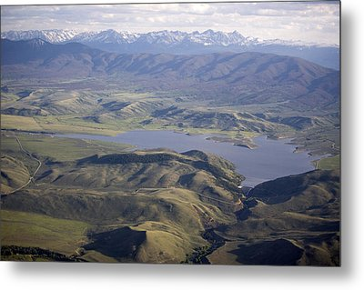 Williams Fork Reservoir Provides Water Metal Print by Michael S. Lewis