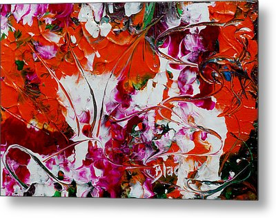 Wilted Flowers Metal Print by Donna Blackhall