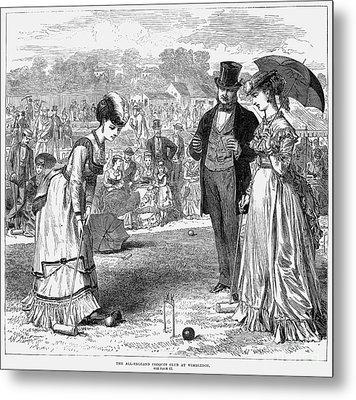 Wimbledon: Croquet, 1870 Metal Print by Granger