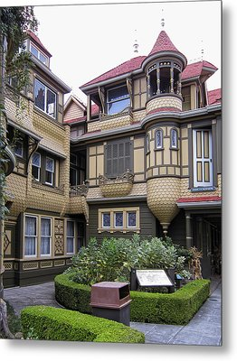 Winchester House - Door To Nowhere Metal Print by Daniel Hagerman