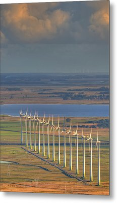 Wind Energy Metal Print by by Roberto Peradotto