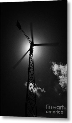 Wind Power Windmill Energy Metal Print by Joe Fox