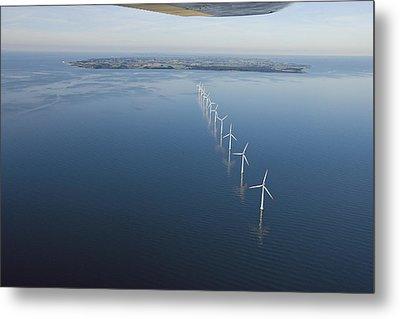 Wind Turbines Provide Energy Metal Print by Andrew Henderson