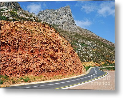 Winding Road Between Gordon's Bay And Betty's Bay Metal Print by Sami Sarkis