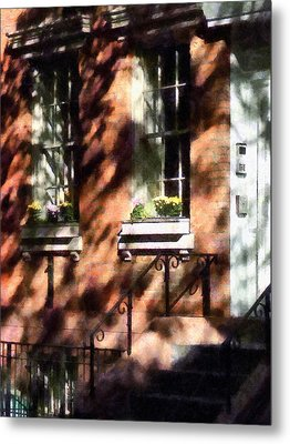 Window Boxes Greenwich Village Metal Print by Susan Savad