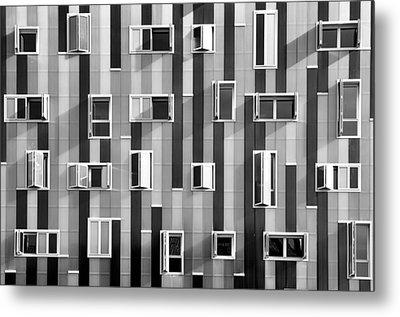 Window Facade Metal Print by Gabriel Sanz (Glitch)