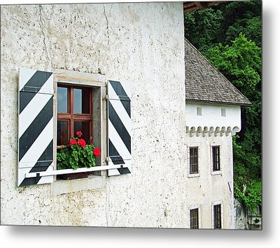 Window Ledge Predjama Castle Predjama Slovenia Metal Print by Joseph Hendrix